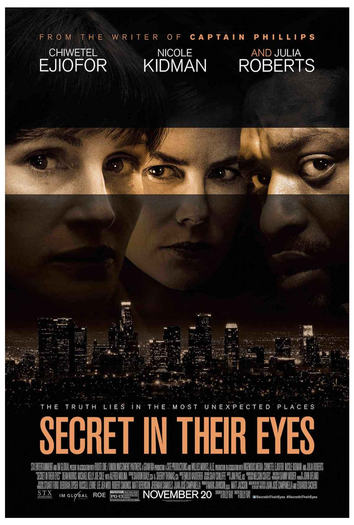 Yeni Secret in Their Eyes film afişi ve kadrosu belli oldu